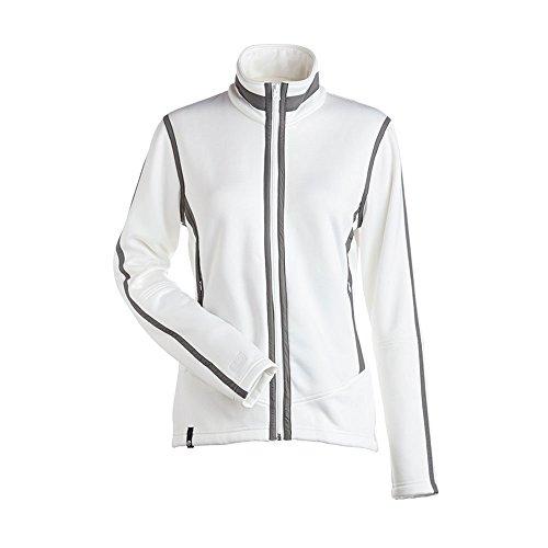 NILS Damen Jacke Nancy Full Zip, Damen, Weiß/Zinn, X-Small