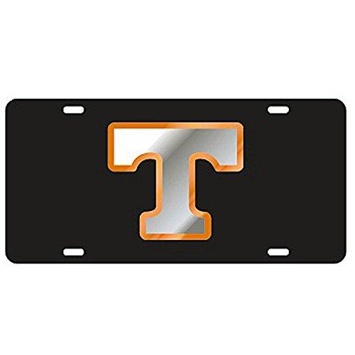 Craftique Tennessee Volunteers Black Laser Cut License Plate - Mirror & Orange T