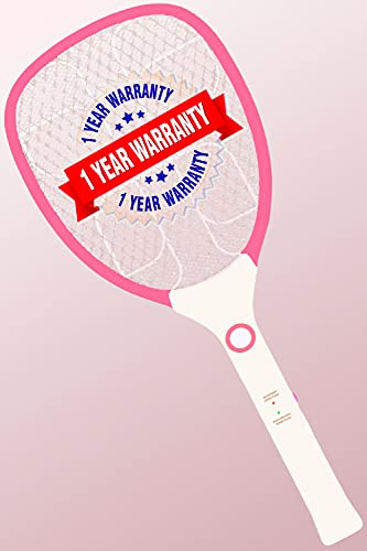 Weird Wolf Premium Durable Rechargeable Mosquito Racket Bat with 1 Year Warranty