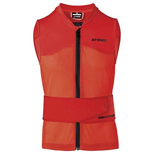 Atomic Herren Ski-Protektor-Weste Live Shield Vest AMID M, mit AMID-Body, Größe L, rot, AN5205012L