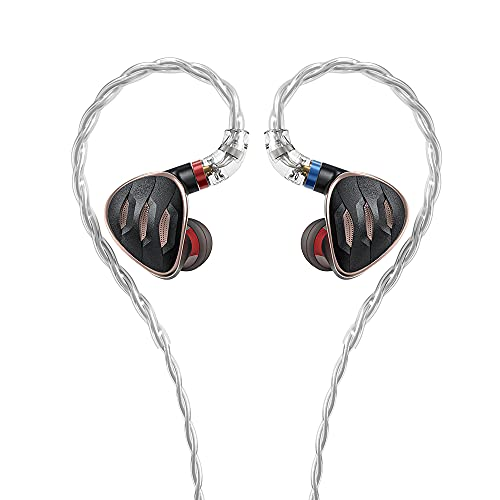 FiiO FH5s 2BA+2DD Quad Driver Hybrid in-Ear HiFi Stereo Earphones with MMCX High-Purity Cable, Swappable Plug 2.5mm/3.5mm/4.4mm (Black)