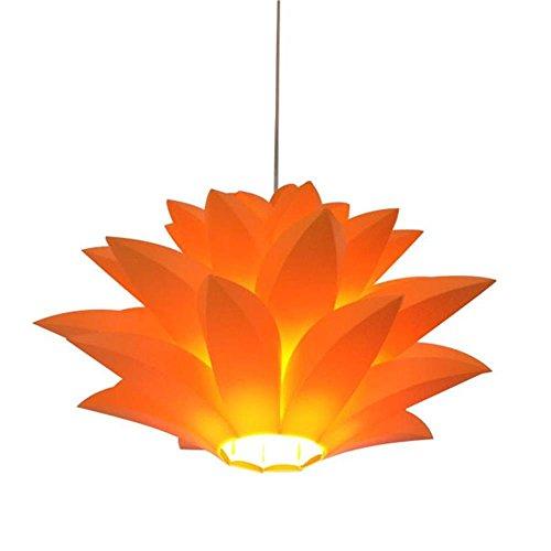 LED Pendelleuchte Lotus Garten Kronleuchter Lampe DIY Set Deckenleuchte Studie Wohnzimmer Schlafzimmer (Orange)