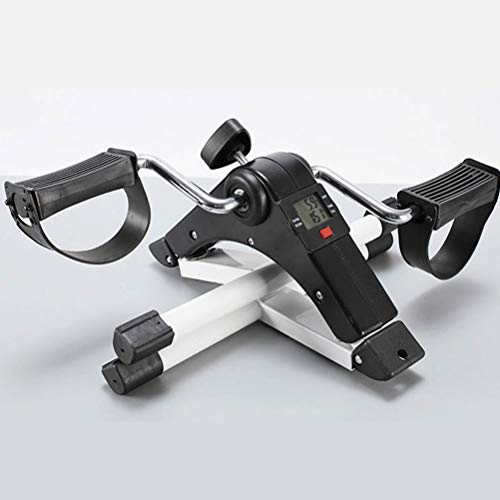 YHSFC Mini Bicicleta estática, Bicicleta Plegable, Entrenador de piernas de Interior para el hogar, máquina de piernas, Adecuado para Ancianos, Mujeres