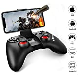 Mobile Game Controller, Gintenco Bluetooth Game Controller for iPhone/Android/Win 7/8/10 Systems/TV Box/PS3, Rechargeable Bluetooth Game Pad Joystick Controller & Remote Gamepad