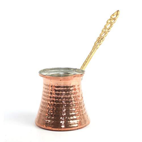 Türkische Kaffeekanne, gehämmertes Kupfer, griechisch-arabische Kaffeemaschine, kleine Herdplatte, Cezve (Topf Nr. 3)