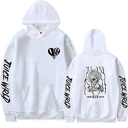 R.I.P. Juice Wrld Unisex Adults Hoodie,3D Printed Women Men Fleece Pullover Hoodie Sweatshirt With Pocket White