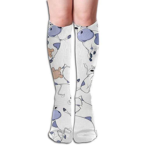 WlyFK sokken bovenbenen hoge sokken Natughty Cow Athletic kniekousen 50 cm