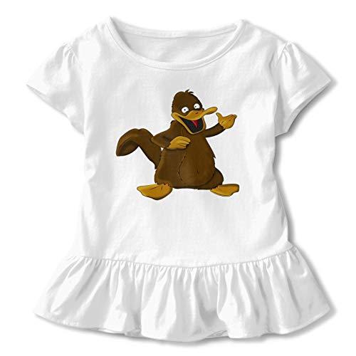 Babe Girl's Short Skirt Ruffled 3D Printed T-Shirt Ferb Platypus Graphic Short Sleeve Teechildren'S Short Sleeve T 3t