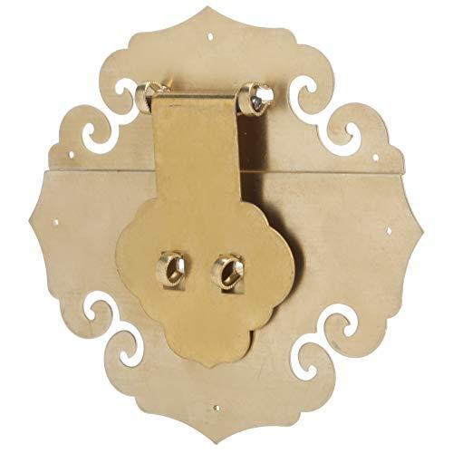 Cerradura de cerrojo resistente a la corrosión con cerrojo de latón, para gabinete, hebilla de bloqueo de caja de madera