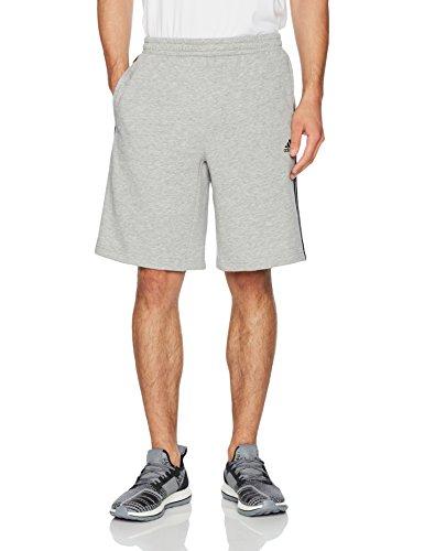 adidas Athletics Essential Pantalones Cortos de algodón para Hombre, Hombre, Color Medium Grey Heather/Black, tamaño XX-Large