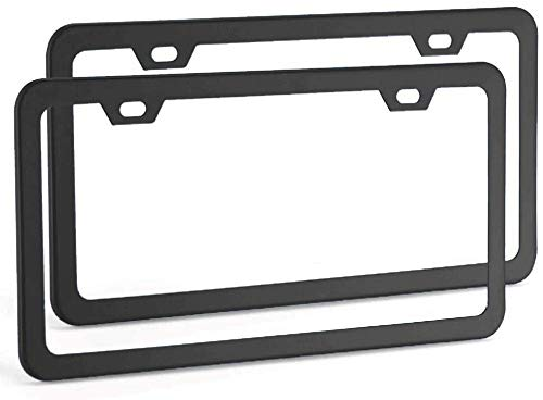 Best 2 hole license plate frames review 2021 - Top Pick