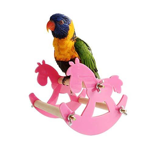 OMEM kleine dier speelgoed training schommelstoel grappige papegaaien vogel speelgoed benodigdheden roze