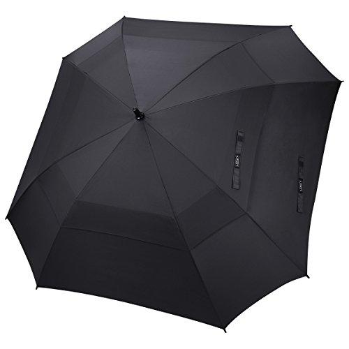 G4Free 62/68 Inch Paraguas de Golf Abierto Automático Paraguas Doble Paraguas Cuadrado Paraguas Extra Grande con Ventilación a Prueba de Viento para Hombres y Mujeres