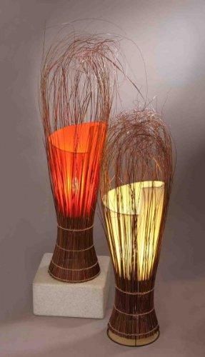 Lampe Fauna - Deko-Leuchte, cremefarbene Stimmungsleuchte 50 cm, Farbe:creme