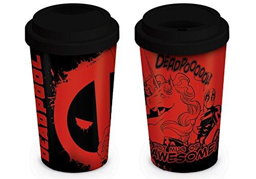 Marvel Comics Deadpool Unicorn 12oz/340ml Reisebecher, Mehrfarbig