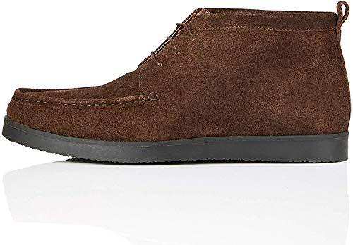find. Fabian Mokassin Boots, Braun (Chocolate/Black), 45 EU