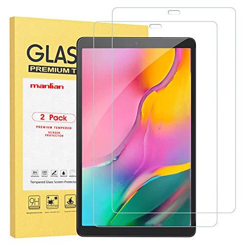 Manlian Pellicola Protettiva Compatibile con Samsung Galaxy Tab A 10.1 2019 (SM-T510/T515) , (2Pezzi) Vetro Temperato di Qualità
