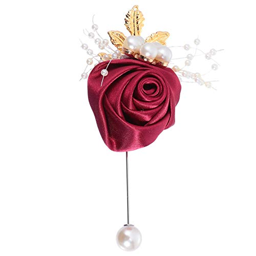 NUOBESTY Ramo de Novia 1 Pieza Elegante Ramo de Flores Rosa con...