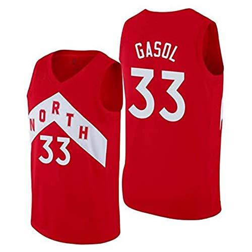 Marc Gasol Jersey # 33 del Baloncesto de los Hombres, Rapaces de Nuevo Tejido Alero sin Mangas de la Camisa de los Jerseys Toronto (Color : 1, Size : M)