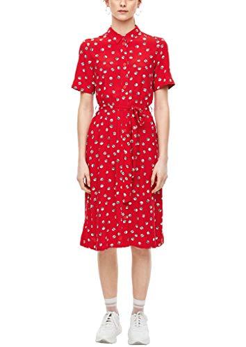 Q/S designed by - s.Oliver Damen Kleid im Hemdblusen-Style red AOP 34