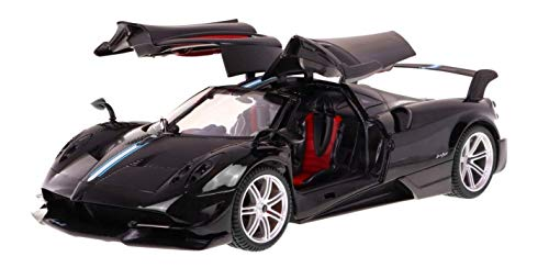 AMPERSAND SHOPS RC Luxury Super Sports Car Pagani Huayra Black Replica 1:14 Scale Full Function Remote Control with Working Headlights and Taillights Ultra Modern