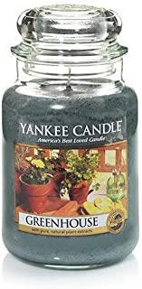 Greenhouse Large Jar Candle,Fresh Scent