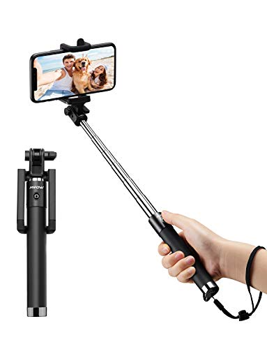 Mpow Selfie Stick, Lightweight Extendable 31.9 Inch Bluetooth Selfie Stick Monopod with Wireless Remote for iPhone 11/11 Pro Max /iPhone...