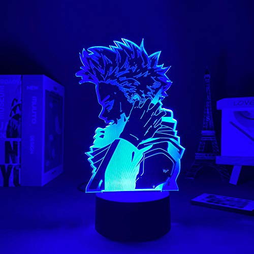 3D noche luz 3D control remoto lámpara de escritorio anime mi héroe Academia LED noche luz Hitoshi Shinso lámpara para dormitorio decoración regalo de cumpleaños ZGLQ