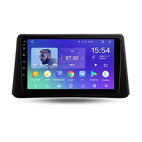 LDXCT 9 Zoll Auto GPS Navigation Android 9 Stereo Musik Radio Für Opel Mokka 1 2012-2016, Lenkradsteuerung Bluetooth Freisprechanrufe SWC Dab USB