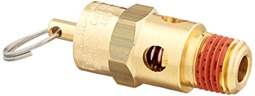 Control Devices ST25-1A100 St251A100 St Series Brass Soft Seat Asme Safety Valve, 100 Psi Set Pressure, 1/4 Male Npt