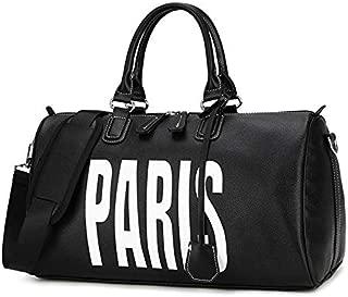 LAGNZ014H Travel Bags PU Leather Shoulder Travel Bag Sport Leisure Handbag without Shoes Socket (White)