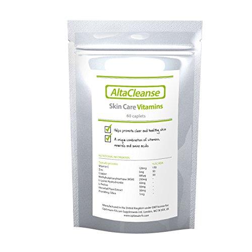 AltaCleanse Hautpflege-Vitamine - Helfen Sie Ihrer Haut, Pickel und Mitesser von innen zu bekämpfen - 60 Kapseln (60 Tage-Vorrat)