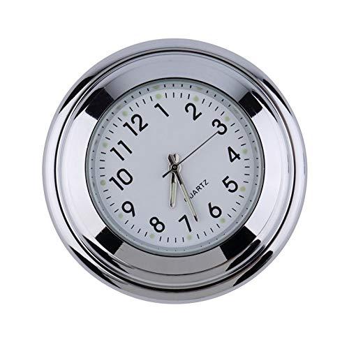 Wasserdichte Motorrad Motorrad Lenkerhalterung Runden Zifferblatt Uhr Zubehör Universal Lenkerhalterung Uhr - Weiß