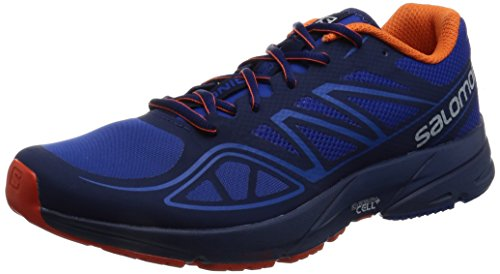 Salomon Sonic Aero, Zapatillas de Trail Running para Hombre, Azul (Surf The Web/Blue Depths/Flame), 45 1/3 EU