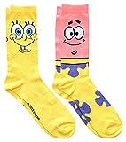 Hyp Spongebob Squarepants and Patrick Men's Crew Socks 2 Pair Pack