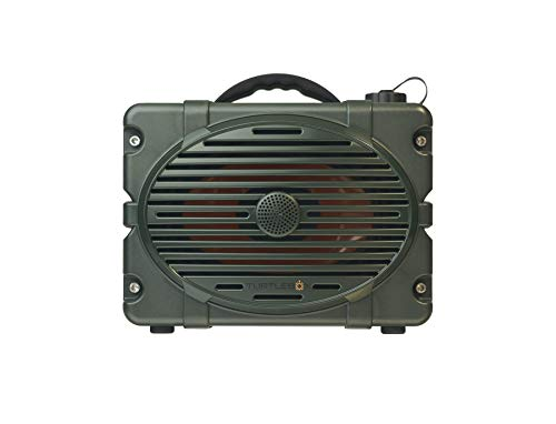 Turtlebox: Loud! Outdoor Rugged Bluetooth Speaker ~ Up to 50+ Hour Charge | IP67 Waterproof & Dustproof. Plays up to 120db. Pair 2X for True Stereo (Single Green, Original Green)