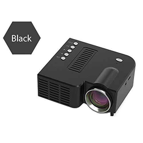 YKX4XJ08迷你投影机便携式,支持1080P和60''显示器,带有20,000小时的LED灯寿命 - 兼容智能手机,TF,AV,USB和机顶盒(黑色)