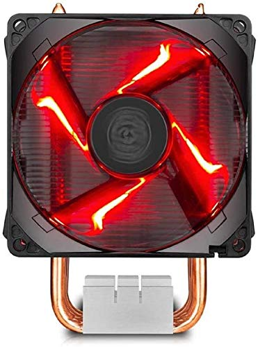 Cooler Master Hyper H410R CPU Cooler - Compact Tower Cooler with 4 CDC Heatpipes, 92mm Red LED PWM Fan, for AMD Ryzen AM4 / Intel LGA115x…