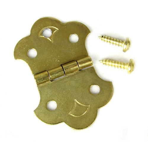 Cigar Box Guitar Brass Hinge Tailpiece for 3-String CBGs