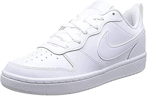 Nike Court Borough Low 2 (GS) Sneaker, White/White-White, 37.5 EU