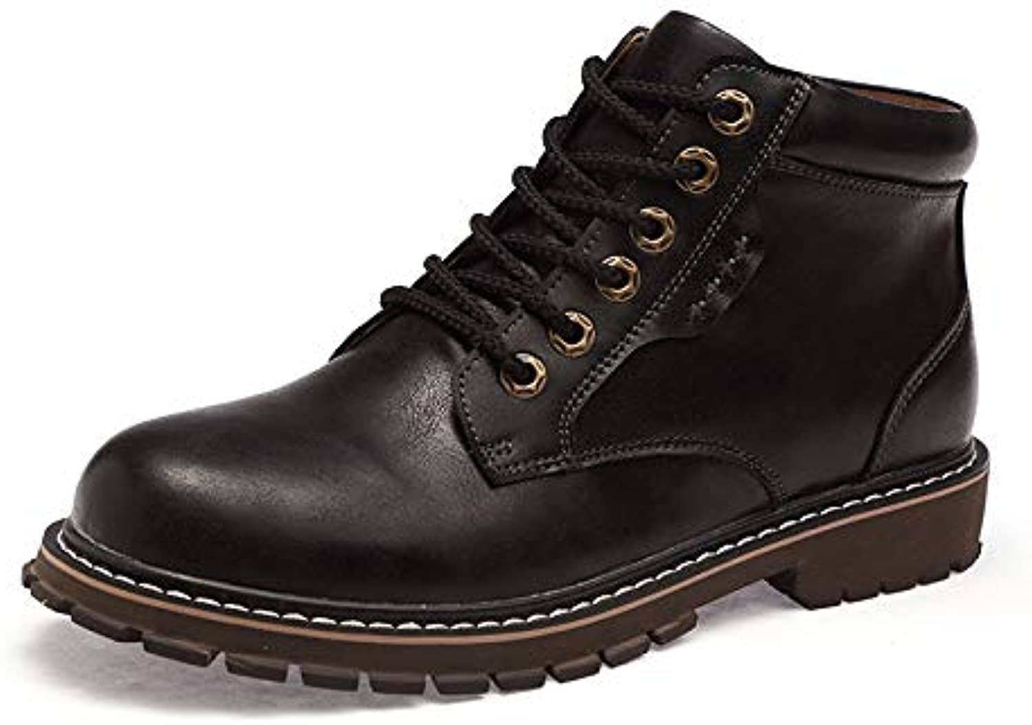 shoes House Tank Men's Soft Toe Oil Full Grain Leather Insulated Work Boots Construction Rubber Sole