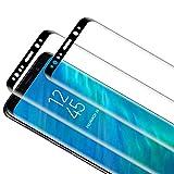 TOCYORIC Protector de Pantalla para Samsung Galaxy S9 Plus [2 Pack] [3D Curvo Full Cover] Cristal Templado [9H Dureza] [Sin Burbujas] [Alta Definición] [Anti Arañazo] Vidrio Templado