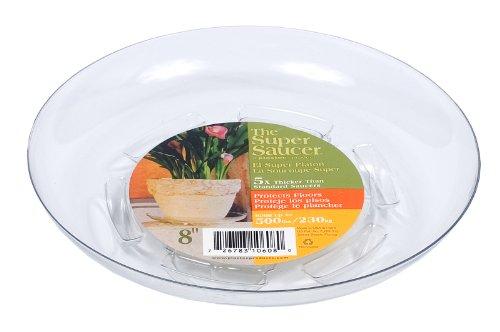 Plastec SS008 Super Untersetzer für Pflanzgefäß, 20,3 cm, transparent