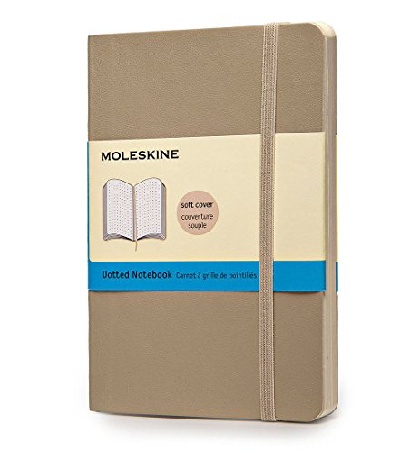 Moleskine Notizbuch, Pocket, Punktraster, Soft Cover, Khaki