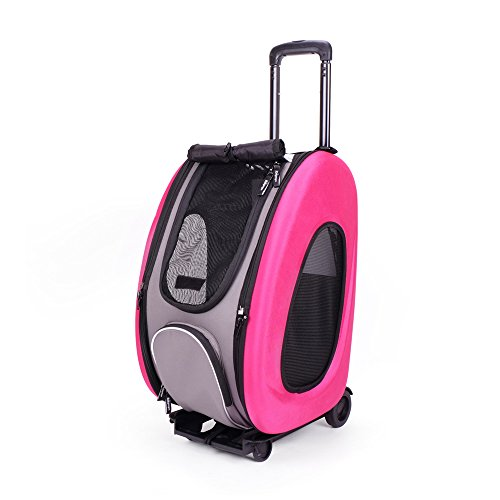 ibiyaya Eva Transportbox mit Rädern, hot pink