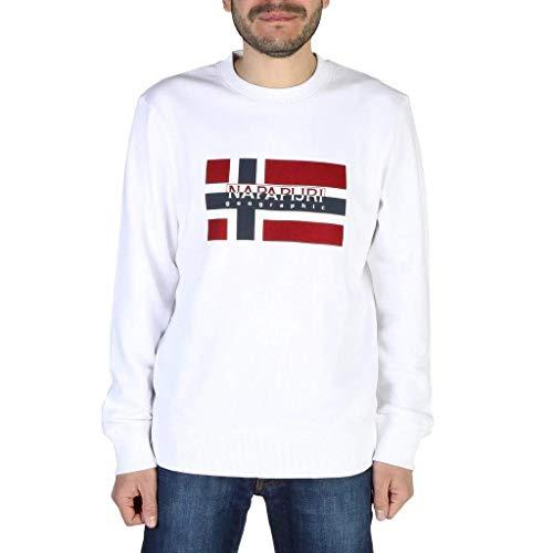 NAPAPIJRI Bovico C Felpa, Bianco (Bright White 0021), Medium Uomo