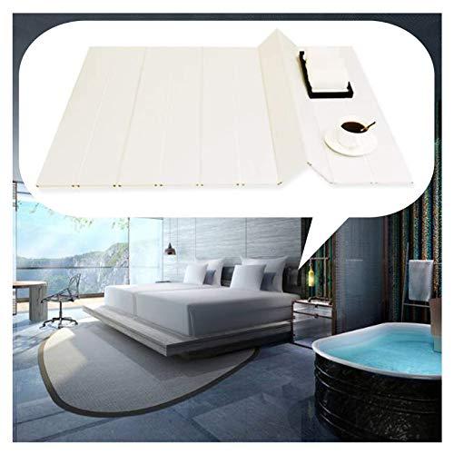 GAOYUY Badewannenabdeckung, PVC Badewannenisolationsabdeckung Weiß Badpaneele Moderner Einfacher Stil Klappbares Badezimmerregal (Color : White, Size : 1.8X0.8M)