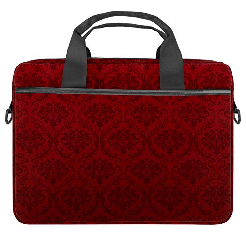 Red Wallpaper Laptop-Tasche mit Schultergurt, kompatibel mit allen Computern, Messenger-Tasche mit Zubehörfach, für 34 - 36,8 cm (13,3 - 14,5 Zoll)