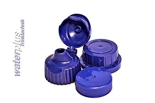 9 x verschiedene (Ersatz-) Deckel für waterplus TRITAN Flaschen mit 33 mm Öffnung