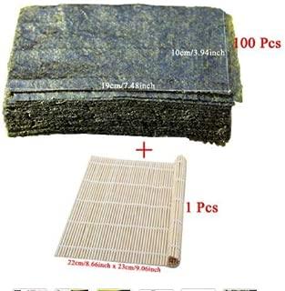 9 Pezzi//Set stuoie di rotolamento Bacchette Riso spargitore Cucchiaio Kit di bamb/ù Fai da Te LQMILK Sushi Making 100/% bamb/ù Ecologico e carbonizzato creatore di Sushi Fai da Te per Principianti
